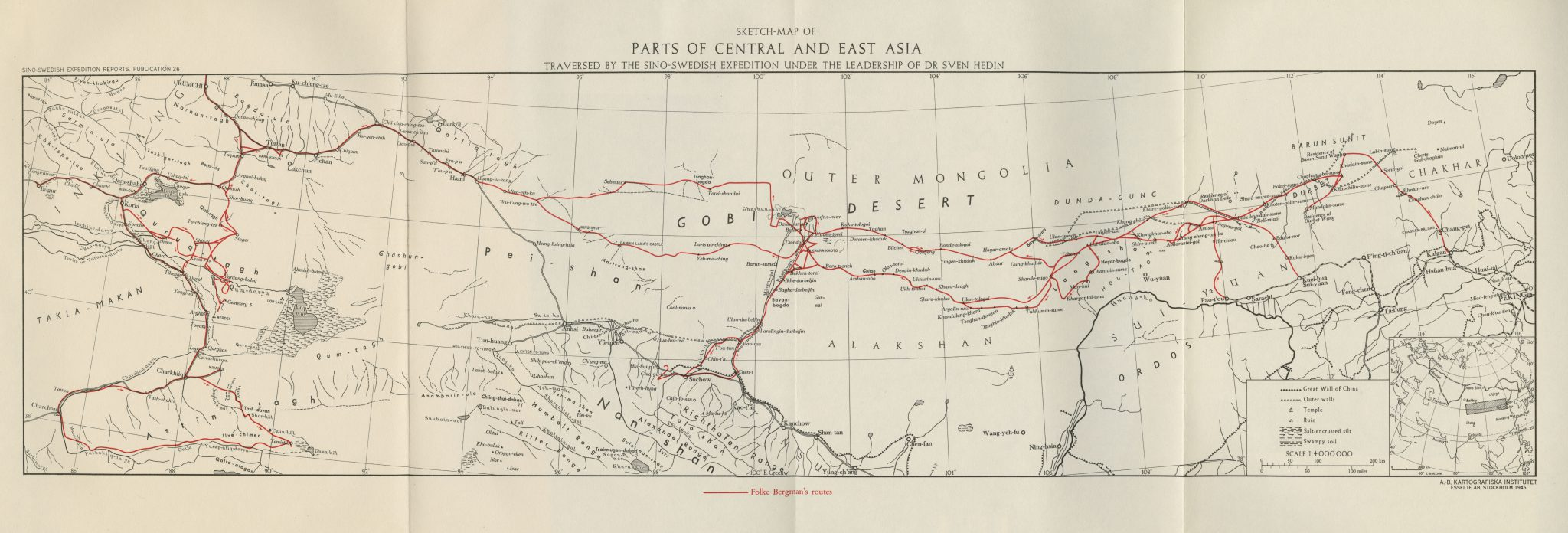 Sketch-Map of Parts of Central Asia and East Asia 1945