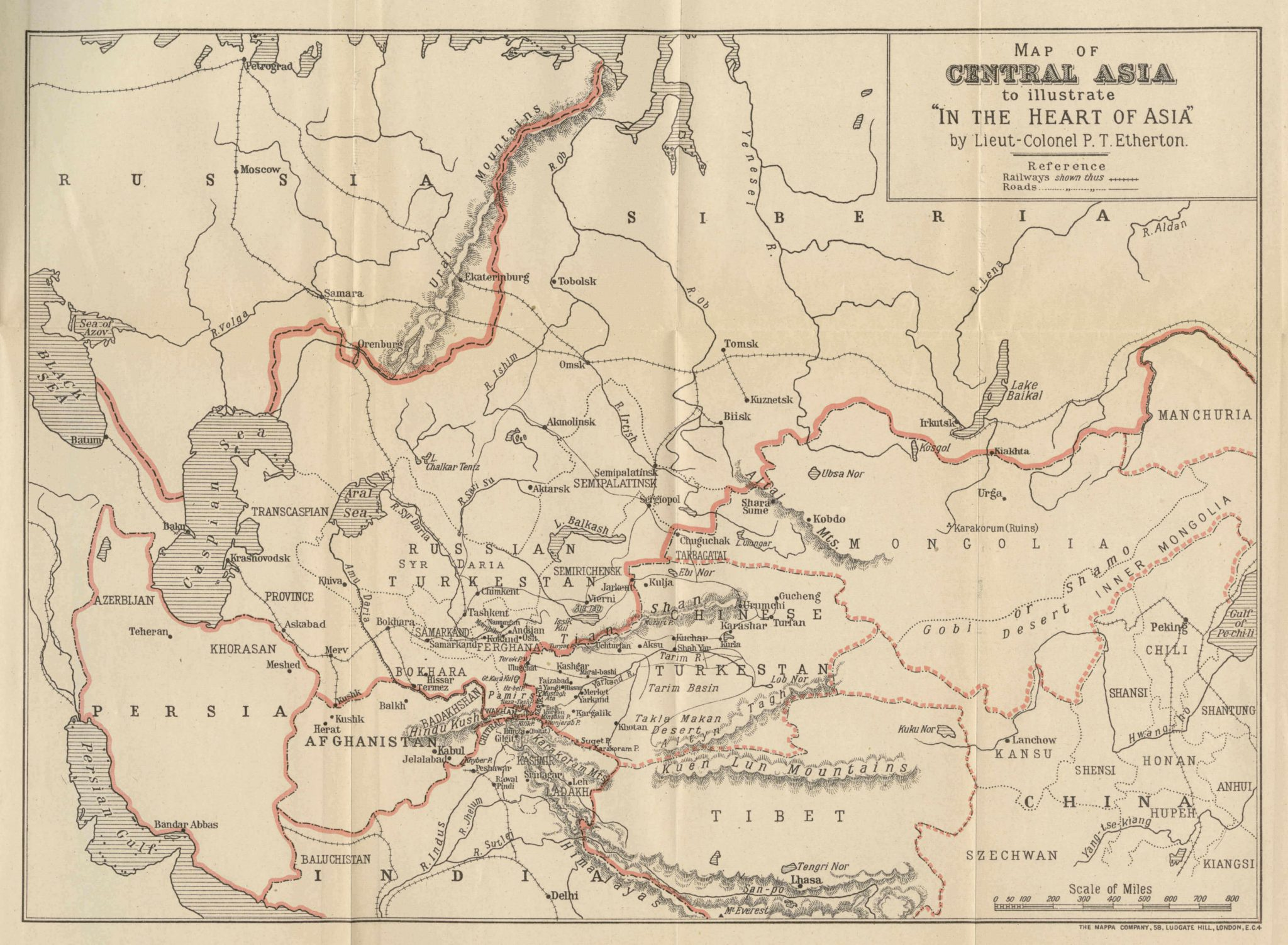 Map of Central Asia 1926