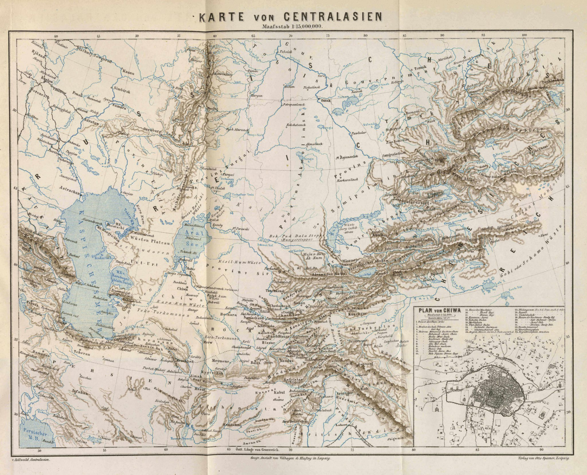 Map of Central Asia 1880