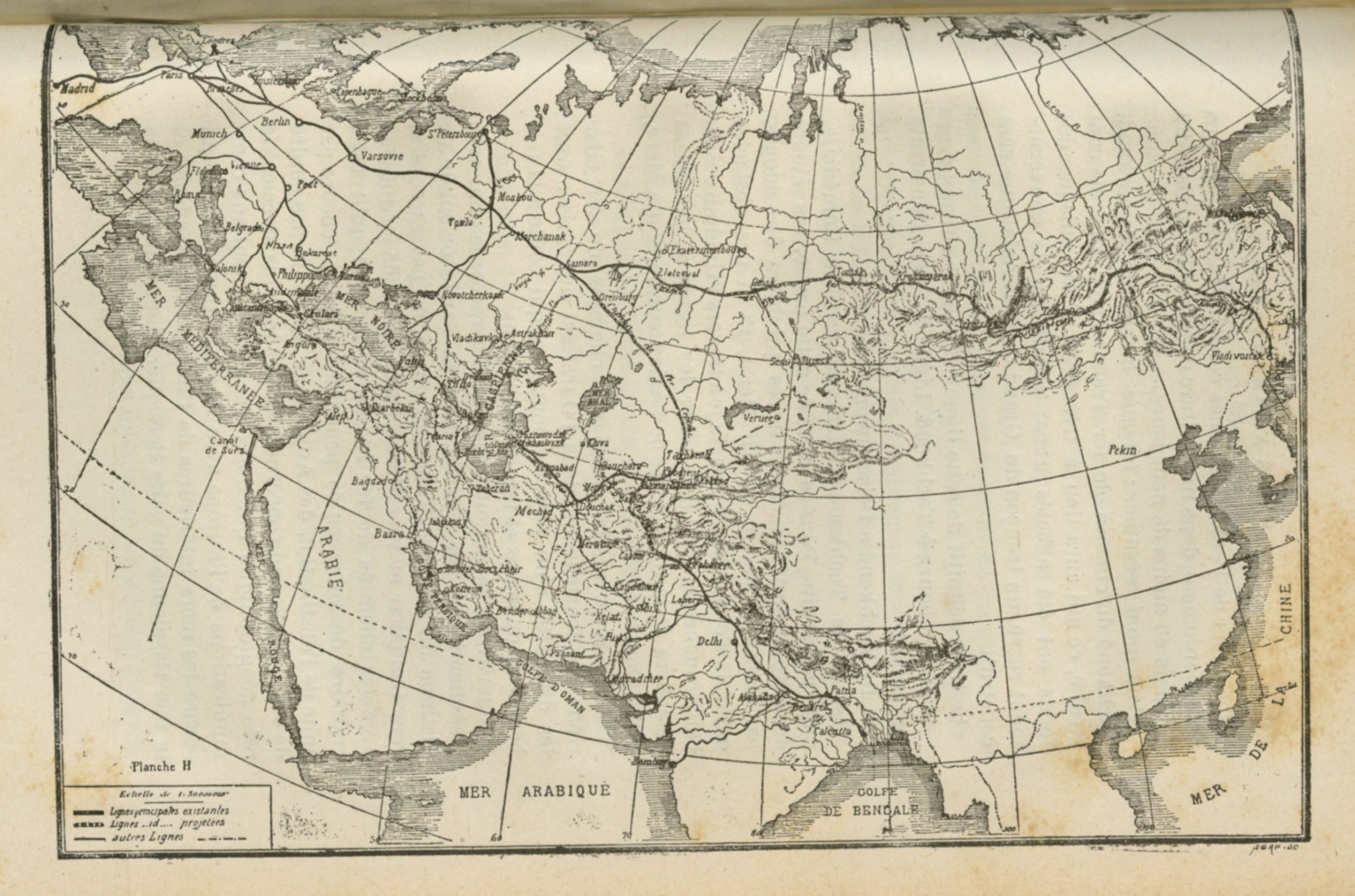 Map of Eurasia 1888
