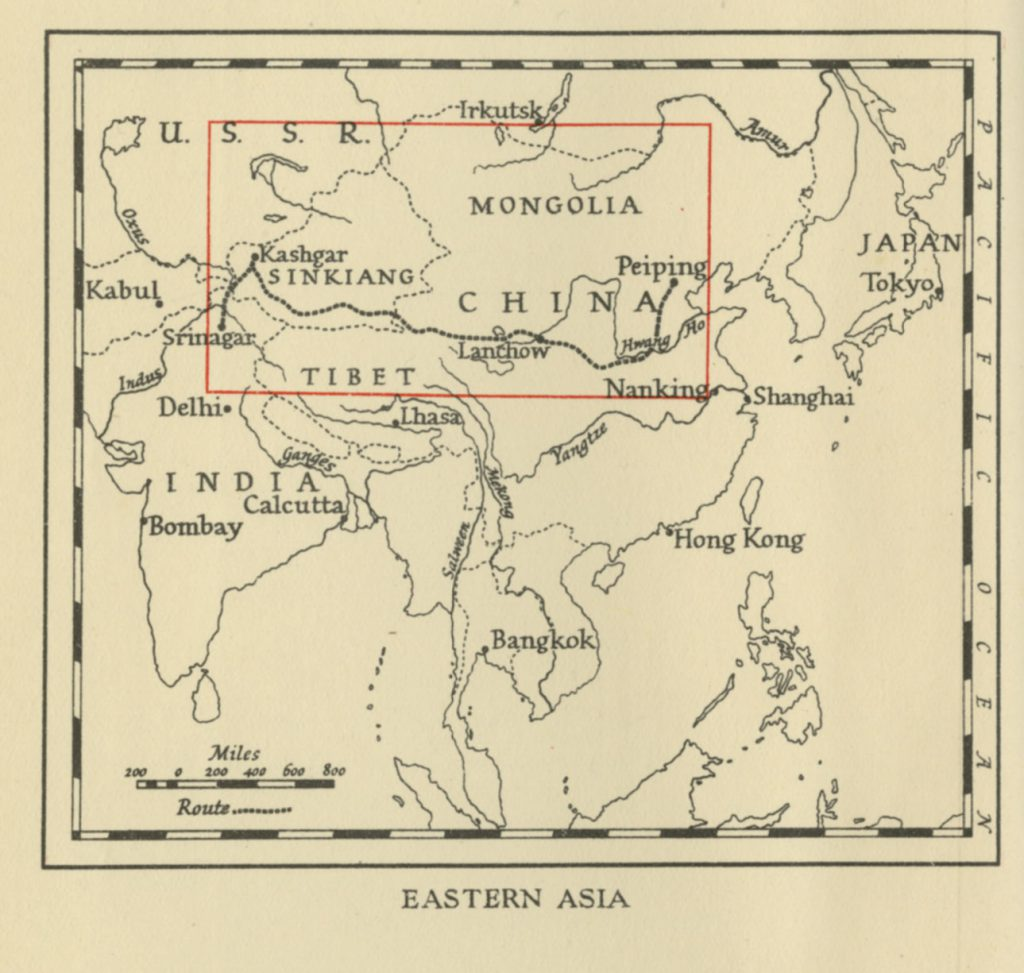 Map of Eastern Asia 1941