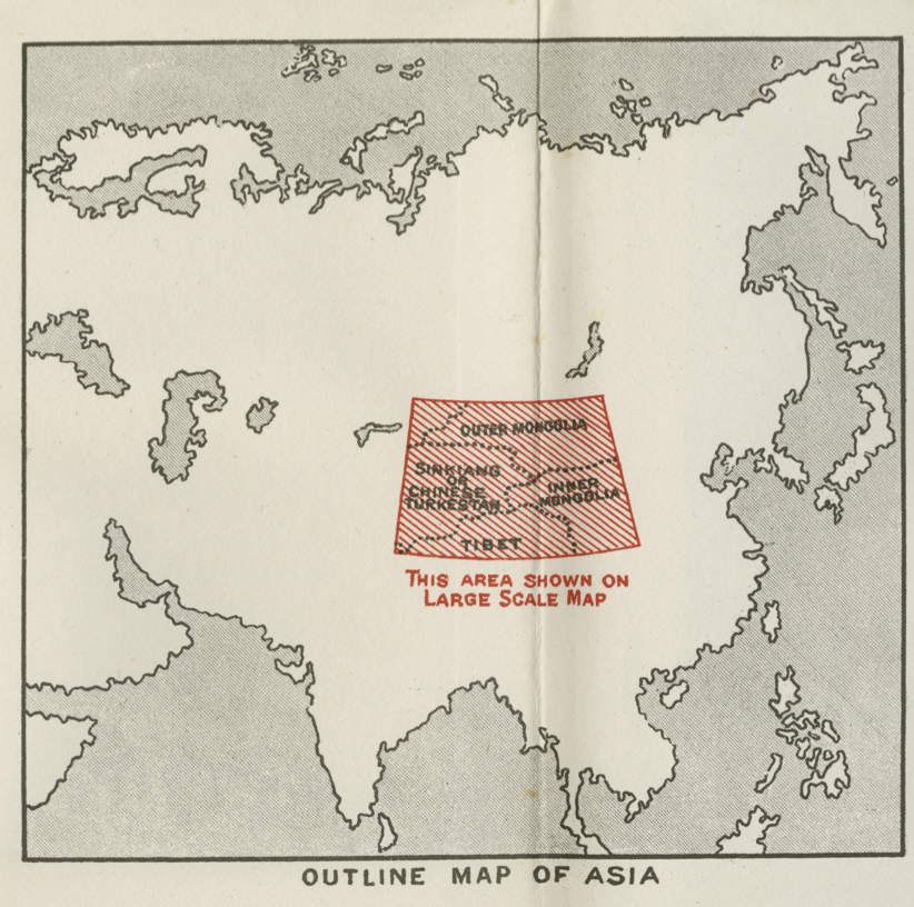 Outline map of Asia 1934