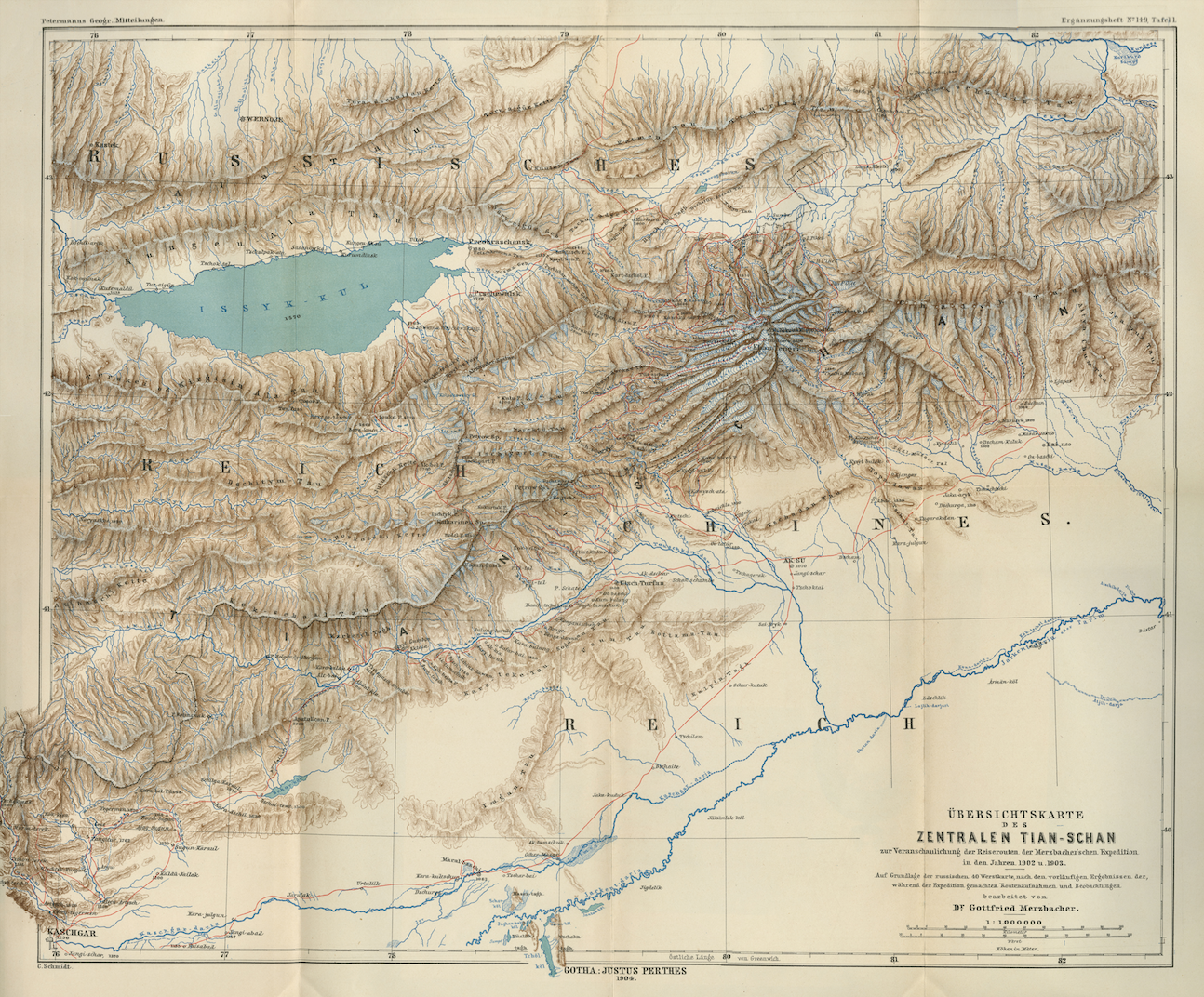 Map of Central Tian-Shan 1904