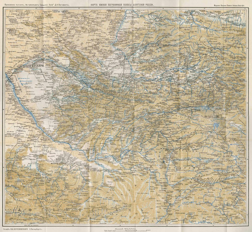 Map of Tsarist Russian Central Asia 1909