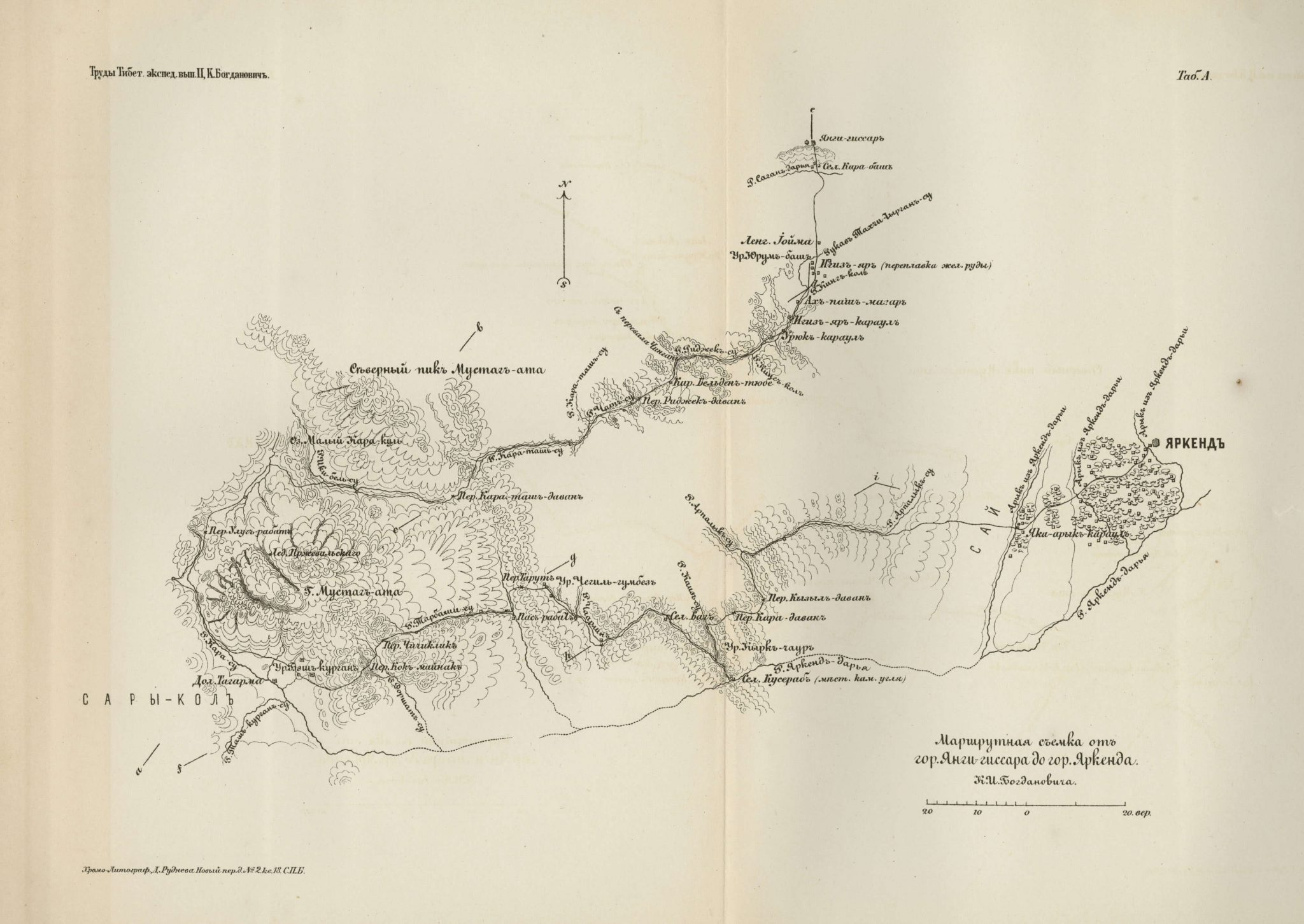 Survey of route between Yangi Hissar and Yarkand via Sarikol 1892