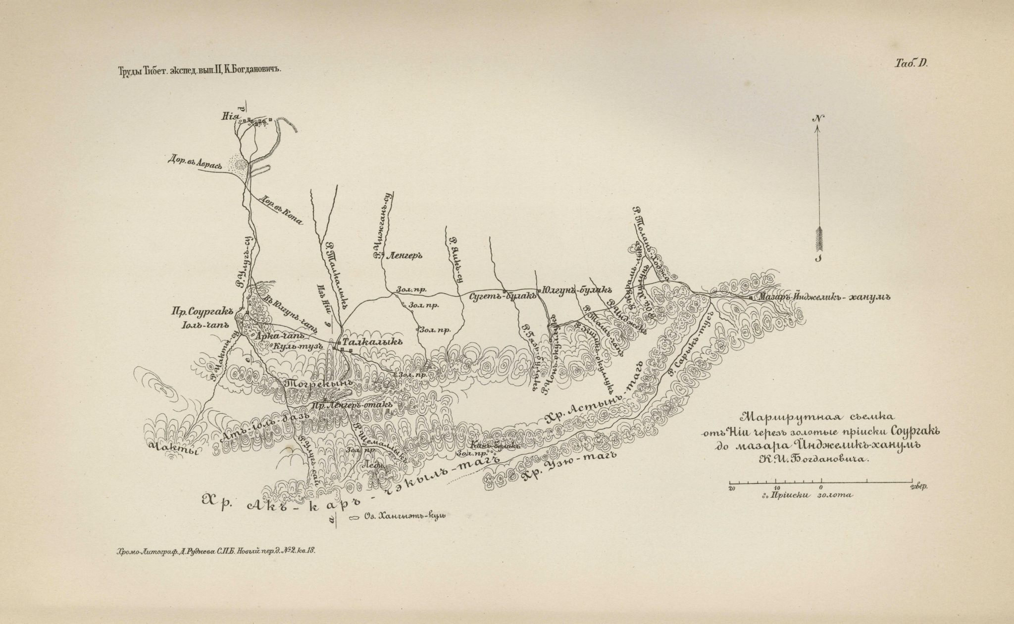 Route survey of Niya, the Sorgak gold mines and Mazar Injelik Khanum 1892