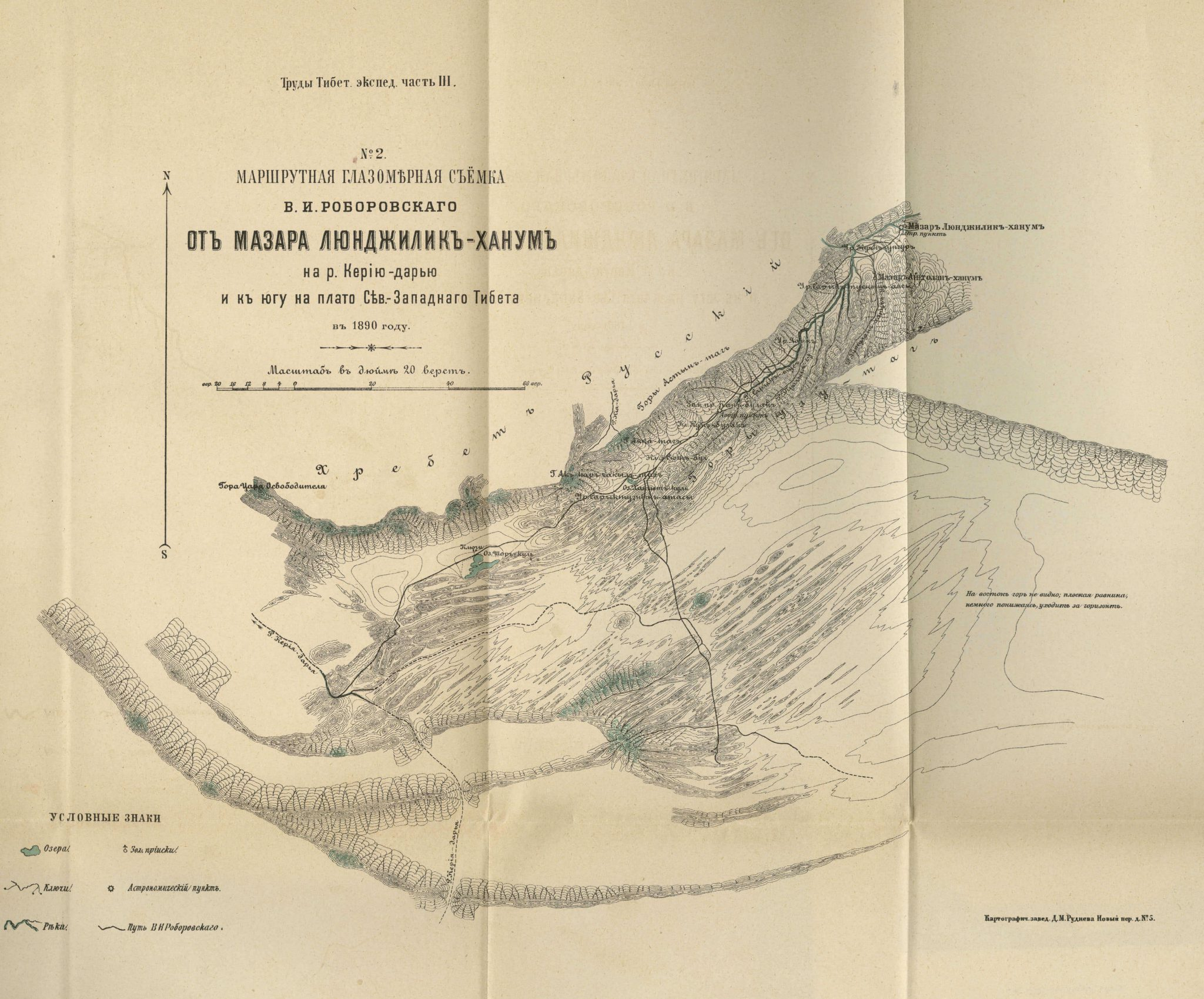 Map of Keriya River 1896